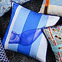 Nude Blue Cotton Cushion  image