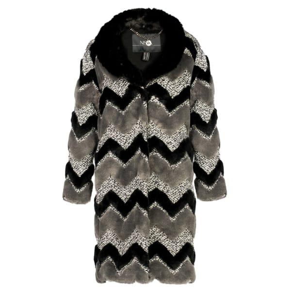 NISSA Long Ecological Fur Coat