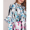Alice Shirt Dress Green Abstract image