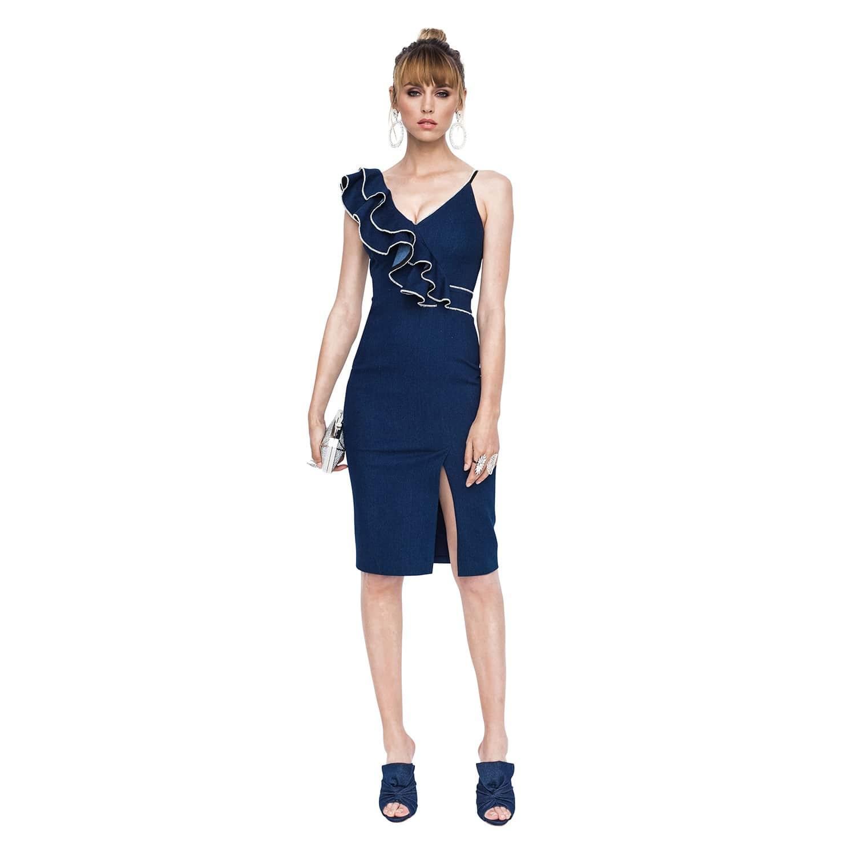 Ruffle Bust Dress