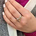 Nighttime Lovers Detachable Two-Tone Ring In 14 Kt Gold Vermeil On Sterling Silver image