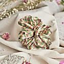 Silk Scrunchie - Botanical Tartan image