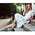 White Blossom Midi Skirt image