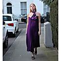 Reversible Silk Satin Alice Dress In Tulip image