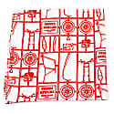 Airfix - Orange - Hand Rolled Silk Pocket Square image