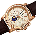 Mens Limited Edition Swiss Made Multifunction Moonphase Watch With Italian Leather Strap image