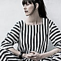 Loose Striped Dress With A Low Cut image