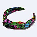 80S Floral Silk Alice Band With Giftbox image