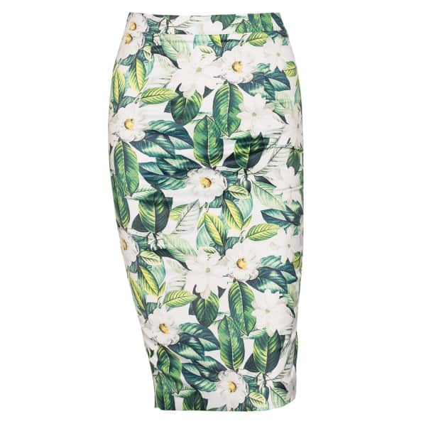 NISSA Pencil Skirt With Floral Print
