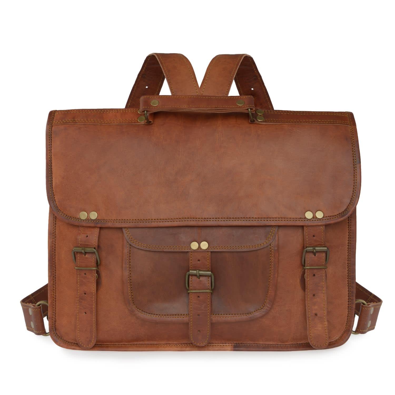 2ed2087995d Vida Vintage Leather Backpack+Satchel | VIDA VIDA | Wolf & Badger