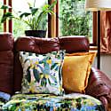 Abstract Honey Velvet Cushion image
