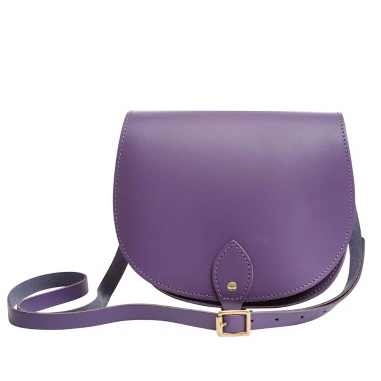 b466cd7f1177a Leather Saddle Bag in Purple | N'Damus London | Wolf & Badger