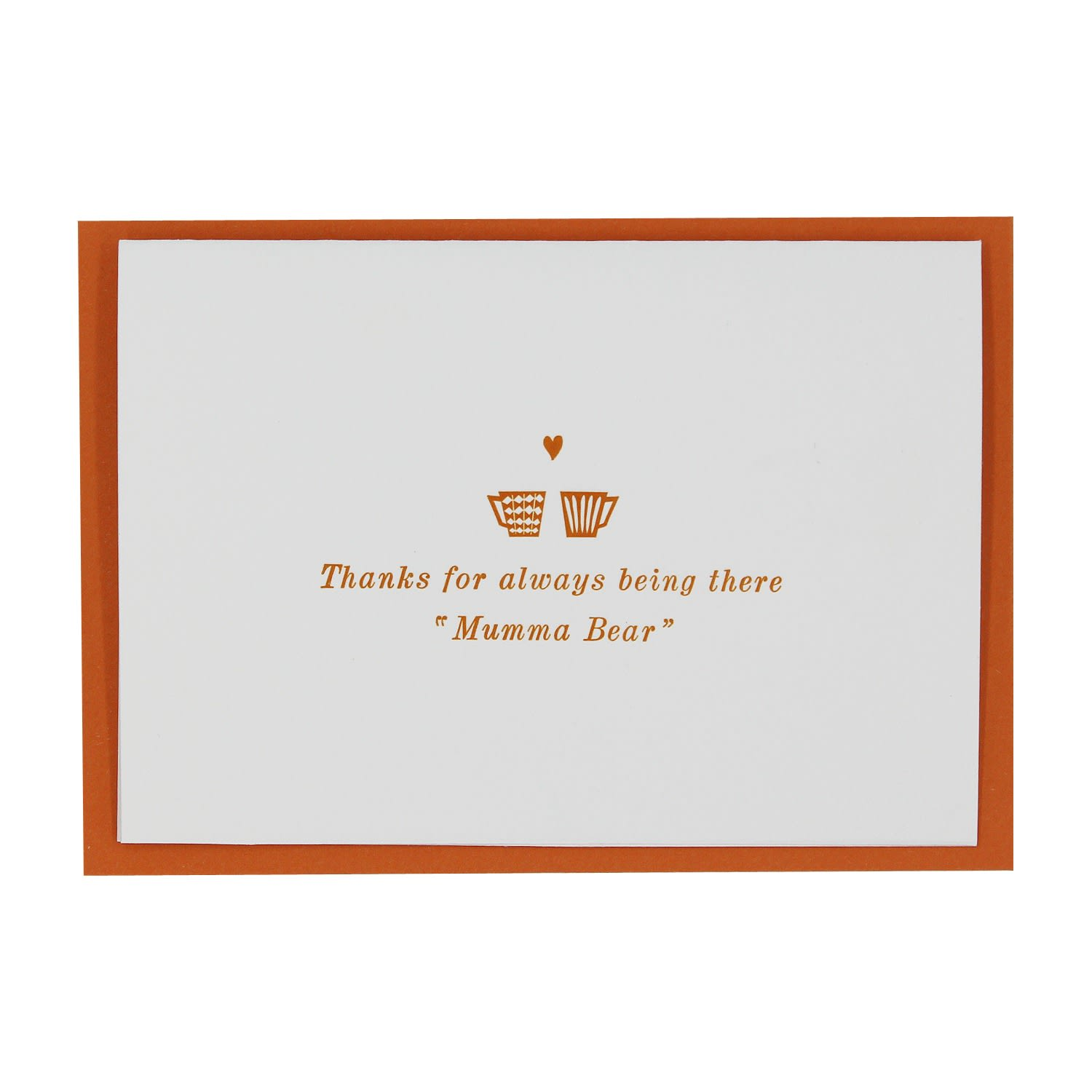 Letterpress thanks for always being there mumma bear greetings card letterpress thanks for always being there mumma bear greetings card image m4hsunfo