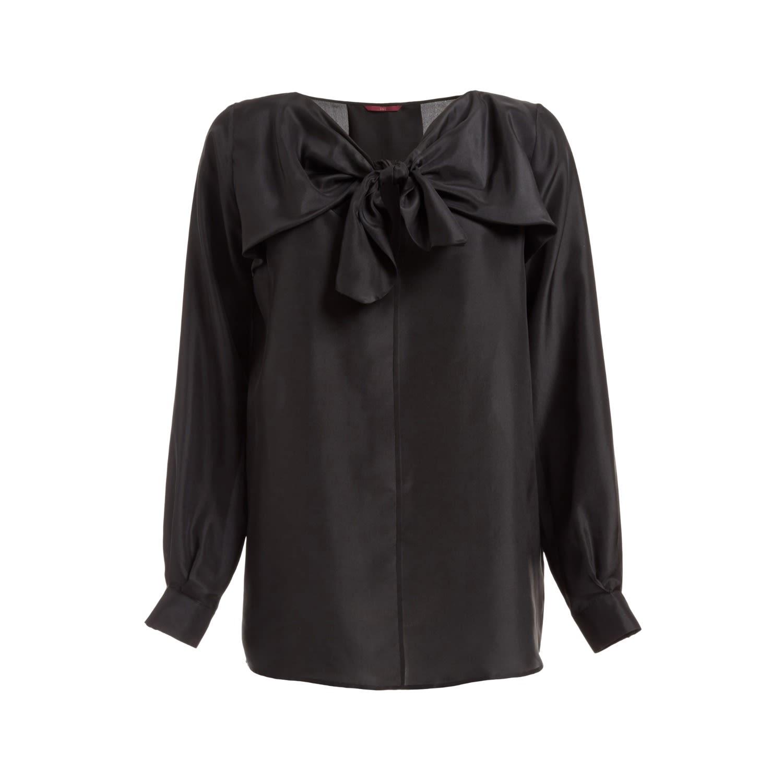 08a8e7f2 Sabina Silk Bow Top Black | WtR | Wolf & Badger