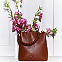 Vegan Leather Mimi Bucket Bag - Tan image