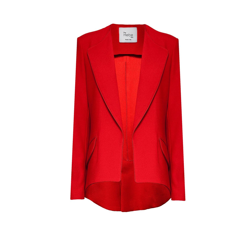 The Hebe Suit Red Girlfriend Blazer