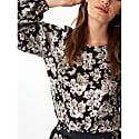 Georgie Balloon Sleeve Top in Busy Rose Print image