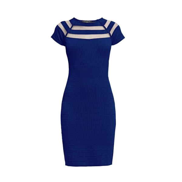 RUMOUR LONDON Catherine Blue Bodycon Dress with Cut-Out Detail