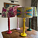 Pinky Red Wooden Painted Table Lamp image