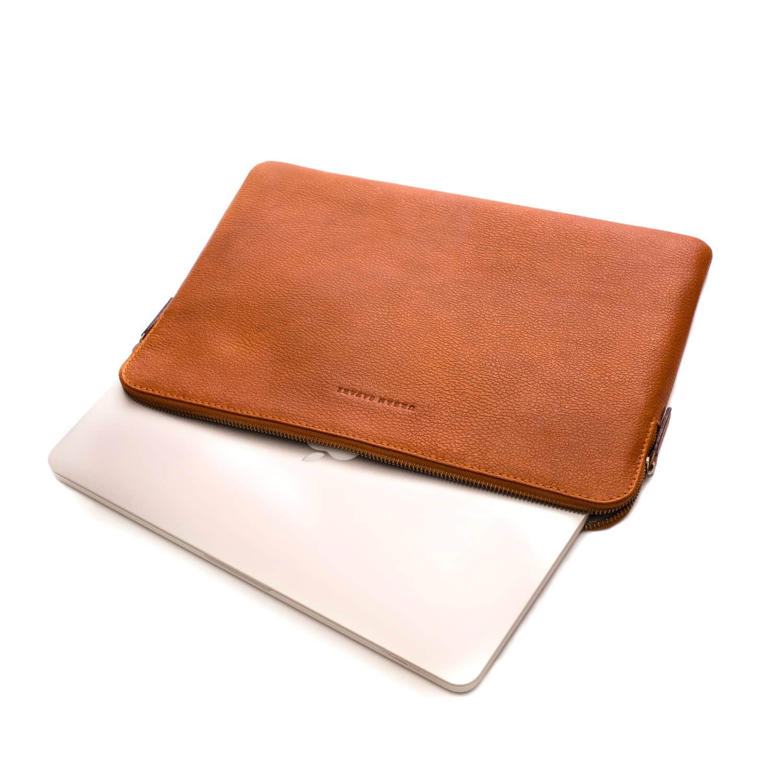 351caeb18ead Tan Leather Laptop Sleeve image