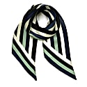 Henley Silk Stripe Neck Scarf Blue image