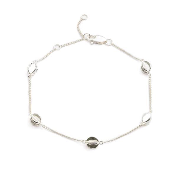 RACHEL JACKSON LONDON Multi Orb Bracelet In Silver