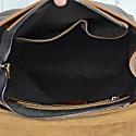 Handmade Genuine Leather Slim Backpack In Black image