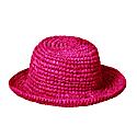 Kirana Raffia Boater Hat In Fuschia Pink image