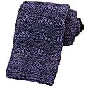 Navy Diamonds Linen Knitted Tie image