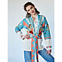 Short Sunrise Rodeo Cardi-Coat Turquoise image