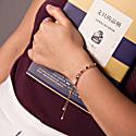 Sanchong Rainbow Gemstones Bracelet 18 Ct Rose Gold Vermeil image