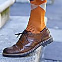 Brown Oxford Stripe & Orange Big Diamond Men'S Socks 2 Pack image