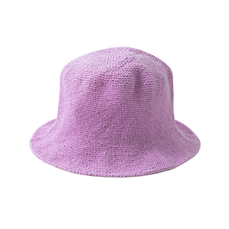 Florette Crochet Bucket Hat In Lilac Purple Brunna Co Wolf Badger