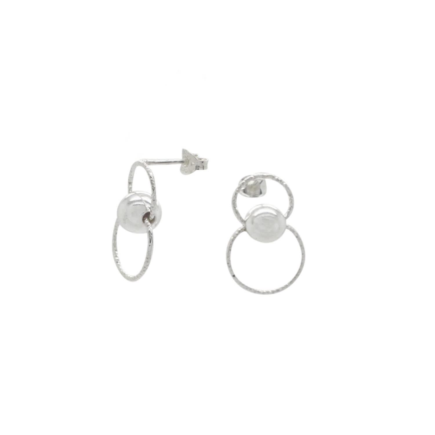 d54216282f2 Large Circle Linked Stud Earrings Sterling Silver by Lucy Ashton Jewellery