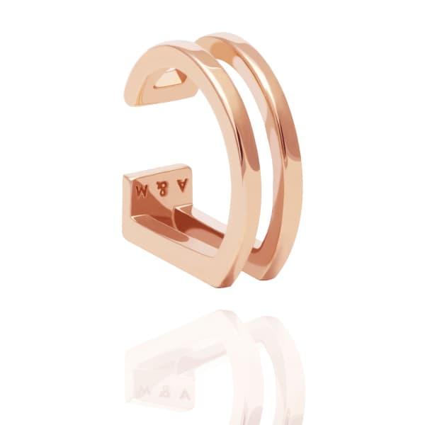 ASTRID & MIYU The Simple Wishbone Ear Cuff In Rose Gold