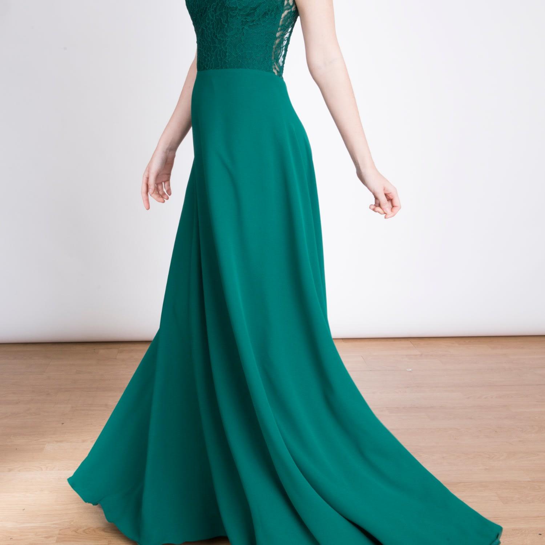 The Emma Maxi Dress Open Back Lace   Lauren Lynn London   Wolf & Badger