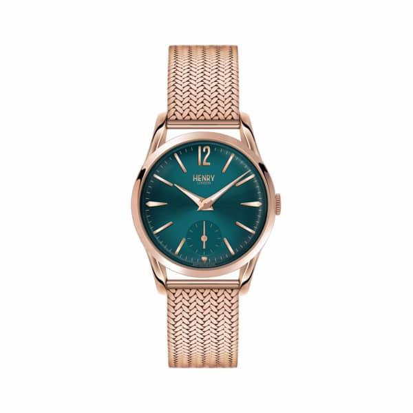 HENRY LONDON Ladies 30mm Stratford Stainless Steel Bracelet Watch