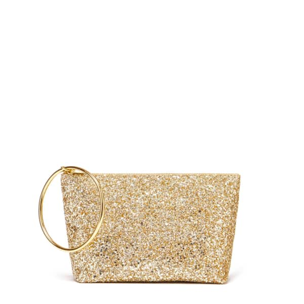 THACKER NEW YORK Large Ring Pouch In Gold Glitter