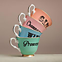 Pastel Champagne Tea Cup & Saucer image