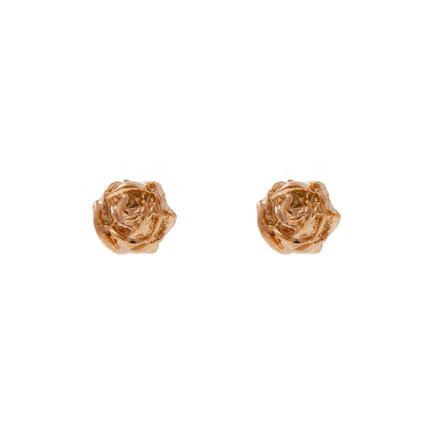 d3b722563 Tiny Rose Stud Earrings Rose Gold | Lee Renee | Wolf & Badger
