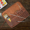 Leather Pencil & Brush Case For Artist & Crafters image