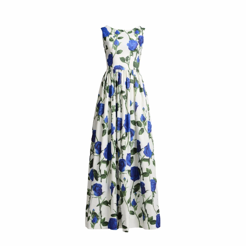 Maxi Dress Diana Blue | MATSOUR\'I | Wolf & Badger