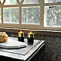Brass Candle Holders Black Marble image