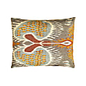 Taj Mahal Punica Suzani Ikat Double Sided Heritage Cushion image
