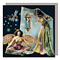 Set Of Five Greeting Cards With Envelopes featuring a Gold Angle Girl image