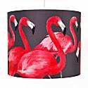 Flock Of Flamingos Lampshade Medium image