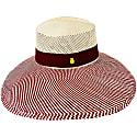 Fine Fedora 'Malibu' Natural Straw Panama Hat Open Crown Down Wide Brim image