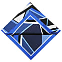 The Abstract Pocket Square Royal Blue image