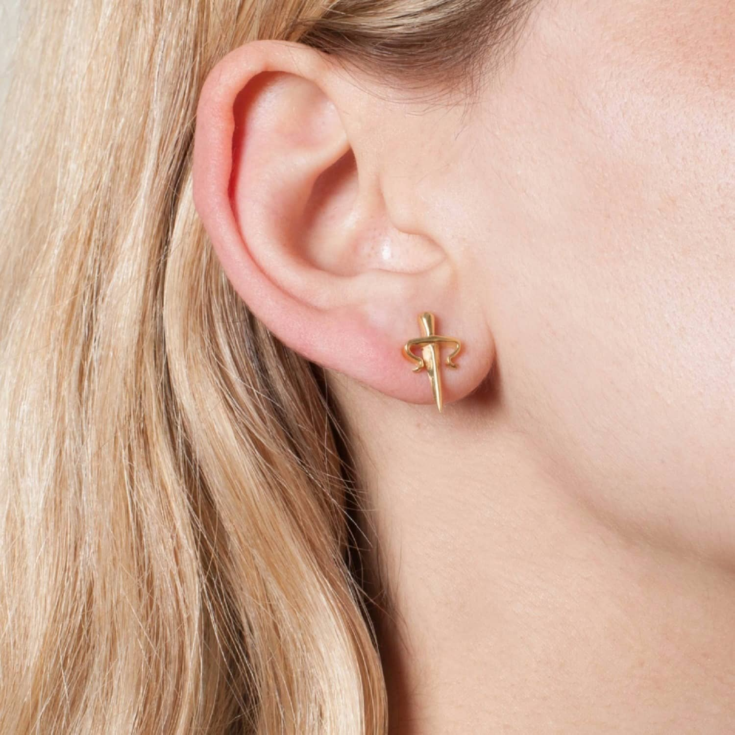 0fb5dc29d Dagger Mini Stud Earrings Gold | LEIVANKASH | Wolf & Badger