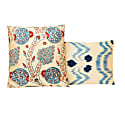 Blue Dots Handwoven Double Sided Silk Ikat Heritage Style Cushion image